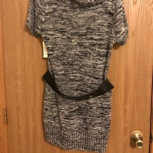 Dresses & Skirts - Short sleeved heather grey sweater dress